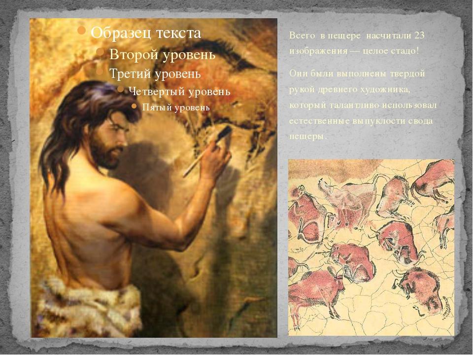 Всего в пещере насчитали 23 изображения — целое стадо! Они были выполнены тве...