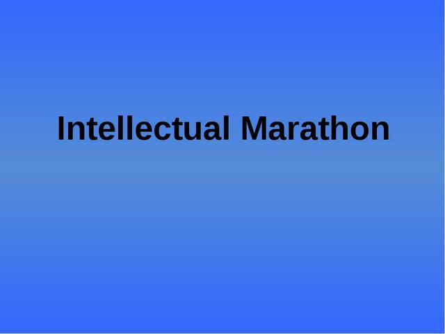Intellectual Marathon