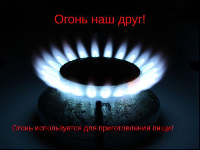Огонь наш друг! Огонь используется для приготовления пищи!