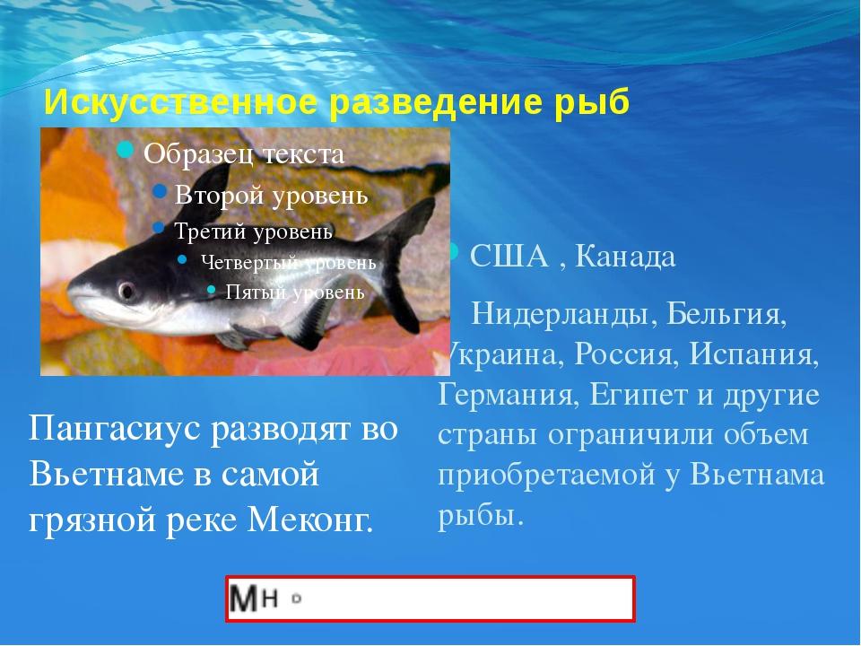 Искусственное разведение рыб США , Канада Нидерланды, Бельгия, Украина, Росси...
