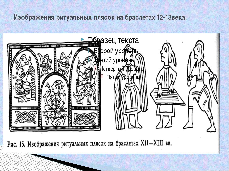 Изображения ритуальных плясок на браслетах 12-13века.