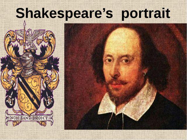 Shakespeare's portrait