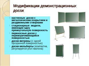 Модификации демонстрационных досок настенные доски с металлическим покрытием