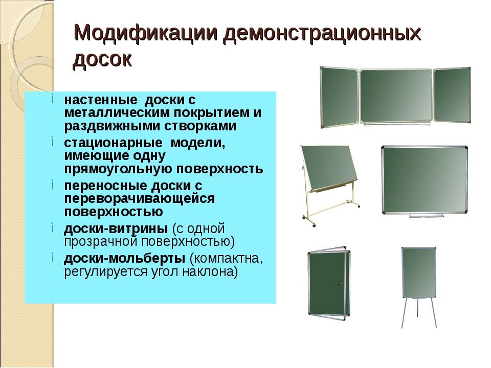 Модификации демонстрационных досок настенные доски с металлическим покрытием...