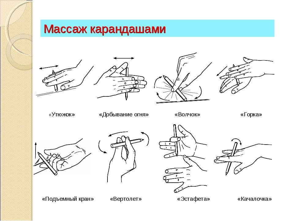 пальчиковая гимнастика с карандашом горячее