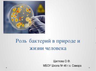 Роль бактерий в природе и жизни человека Щеглова О.Ф. МБОУ Школа № 46 г.о. Са