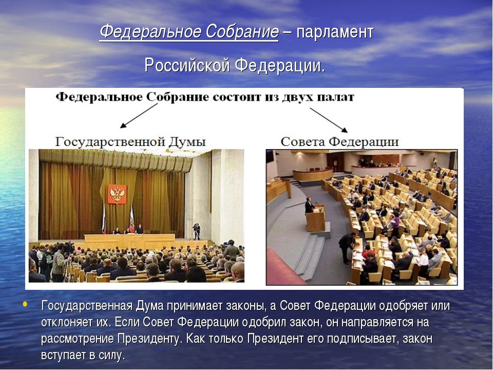 Федеральное Собрание – парламент Российской Федерации. Государственная Дума п...