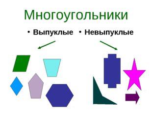 Многоугольники Выпуклые Невыпуклые