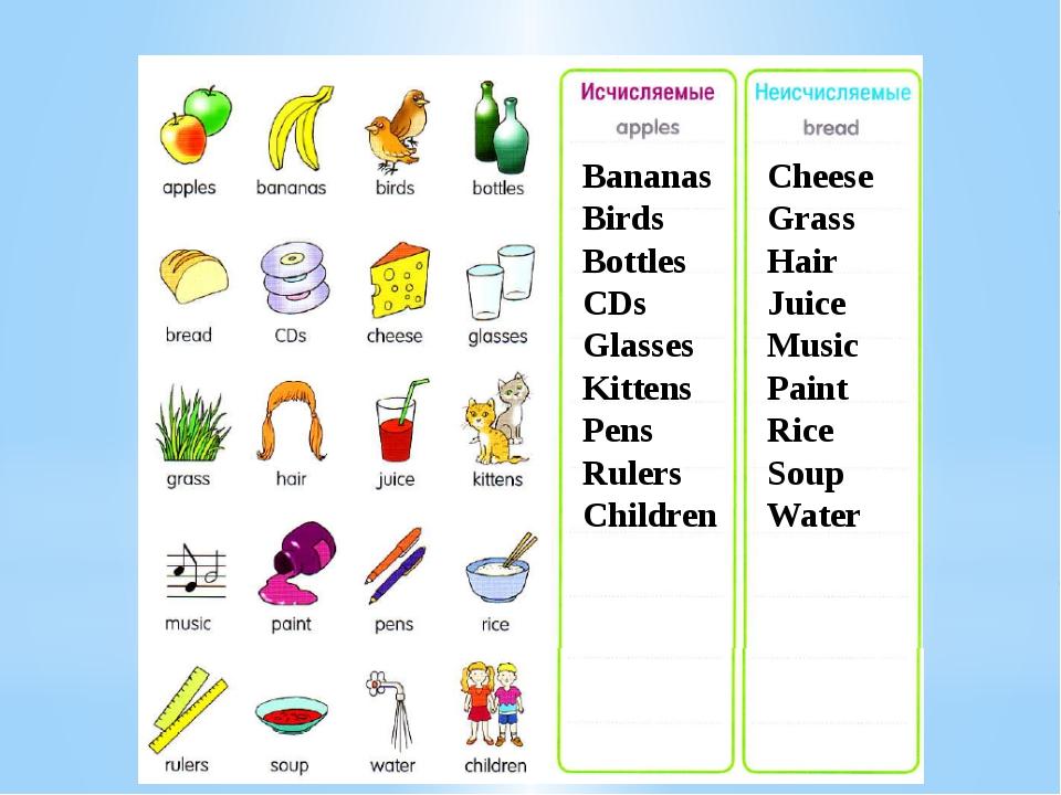 Bananas Birds Bottles CDs Glasses Kittens Pens Rulers Children Cheese Grass H...