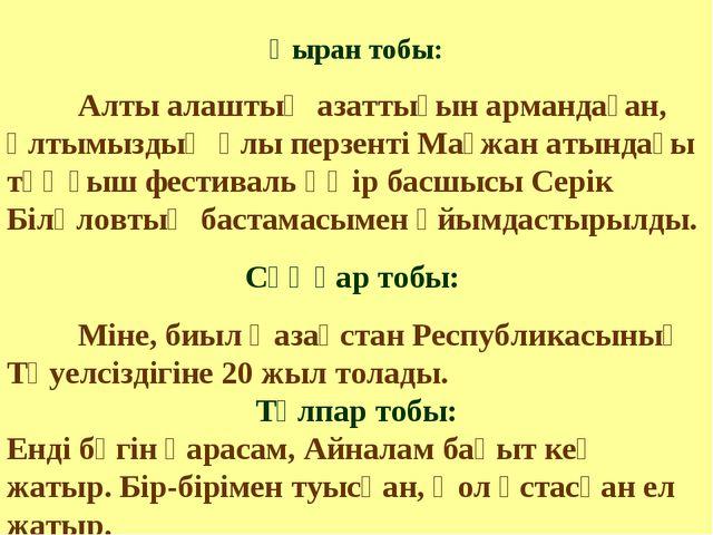 Қыран тобы: Алты алаштың азаттығын армандаған, ұлтымыздың ұлы перзенті Мағжа...