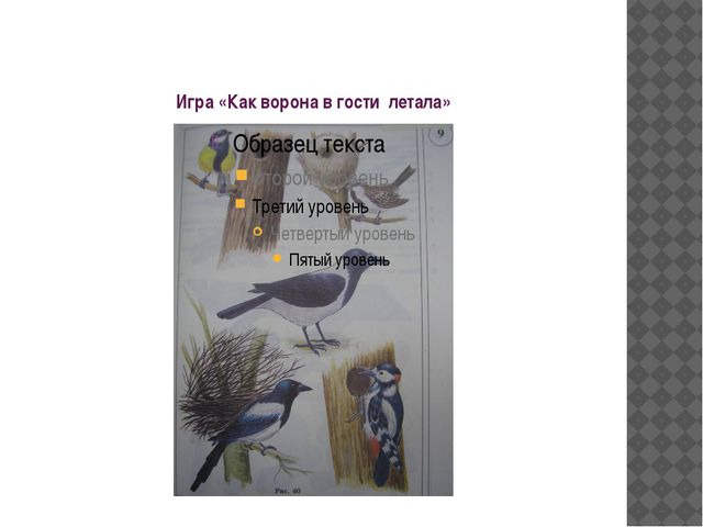 Игра «Как ворона в гости летала»