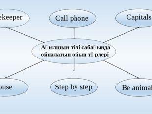 Ағылшын тілі сабағында ойналатын ойын түрлері Beekeeper Call phone Capitals
