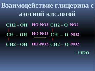 СН – ОН СН2 – СН2 – ОН ОН СН – О СН2 – СН2 – О О HO-NO2 HO-NO2 HO-NO2 -NO2 -