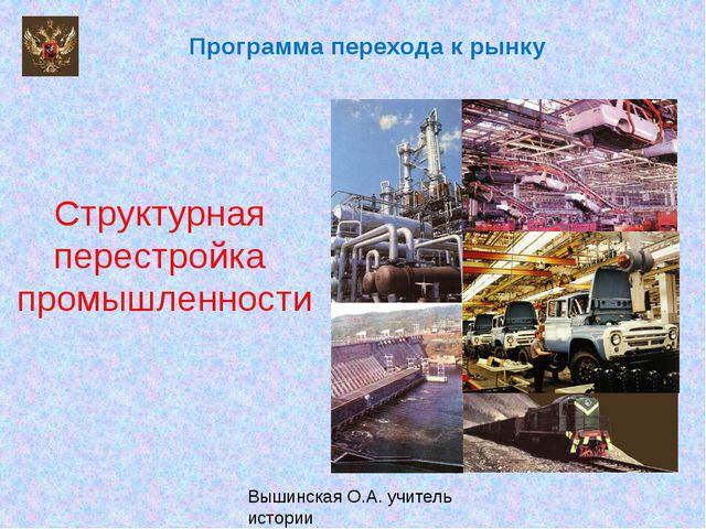 Структурная перестройка промышленности Программа перехода к рынку Вышинская...