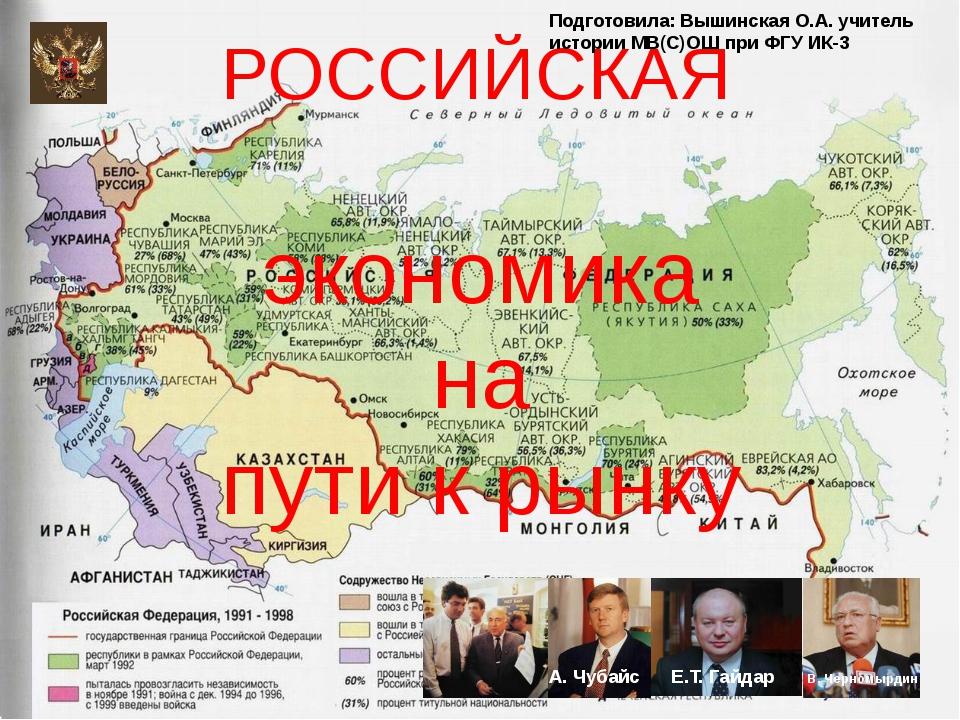 А. Чубайс Е.Т. Гайдар В. Черномырдин РОССИЙСКАЯ экономика на пути к рынку По...
