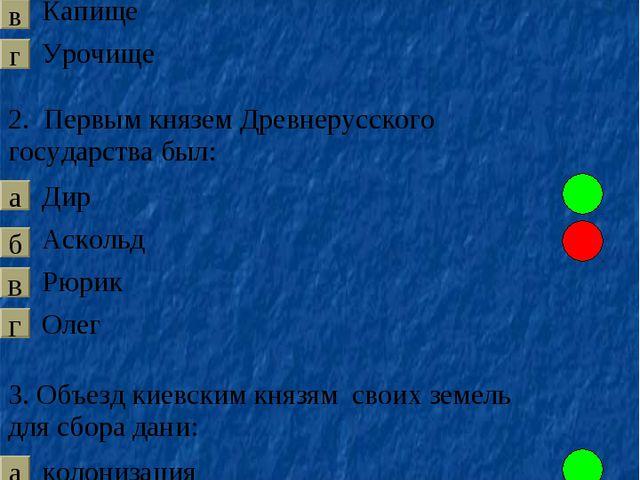 в а б г в а б г б а в г 1. Место, куда славяне приносили жертвы богам: Верв...