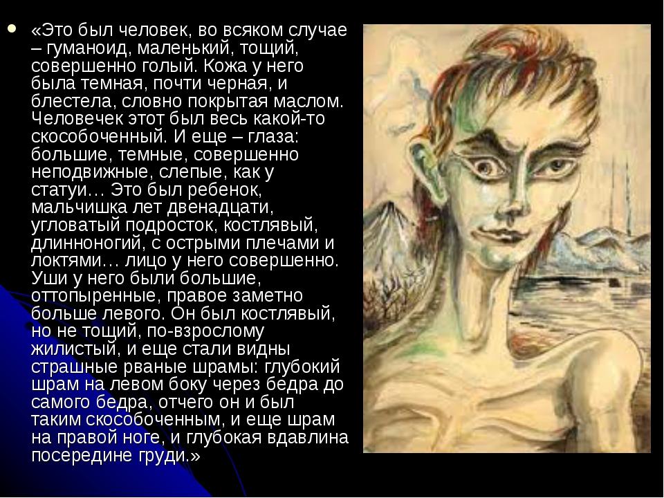 «Это был человек, во всяком случае – гуманоид, маленький, тощий, совершенно г...