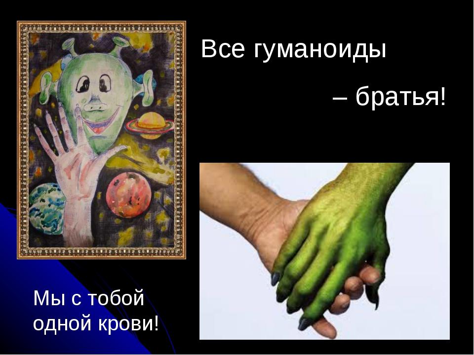 Все гуманоиды – братья! Мы с тобой одной крови!