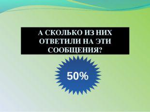 А СКОЛЬКО ИЗ НИХ ОТВЕТИЛИ НА ЭТИ СООБЩЕНИЯ? 50%