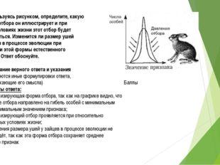 С-2. Пользуясь рисунком, определите, какую форму отбора он иллюстрирует и при