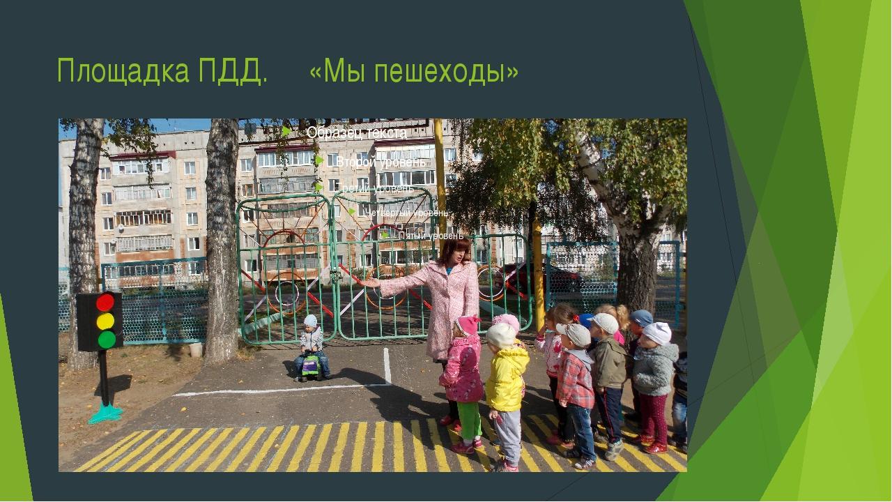 Площадка ПДД. «Мы пешеходы»