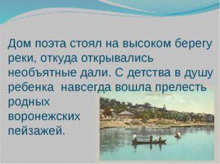 Дом поэта стоял на высоком берегу реки, откуда открывались необъятные дали. С