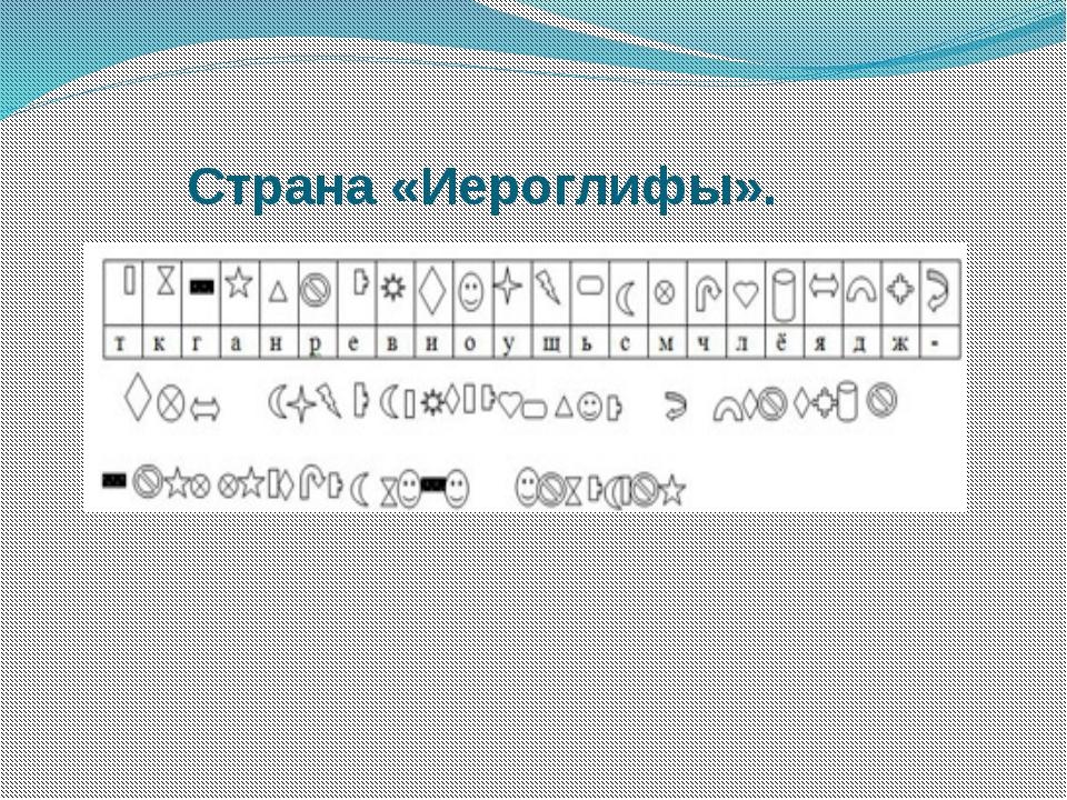 Страна «Иероглифы».
