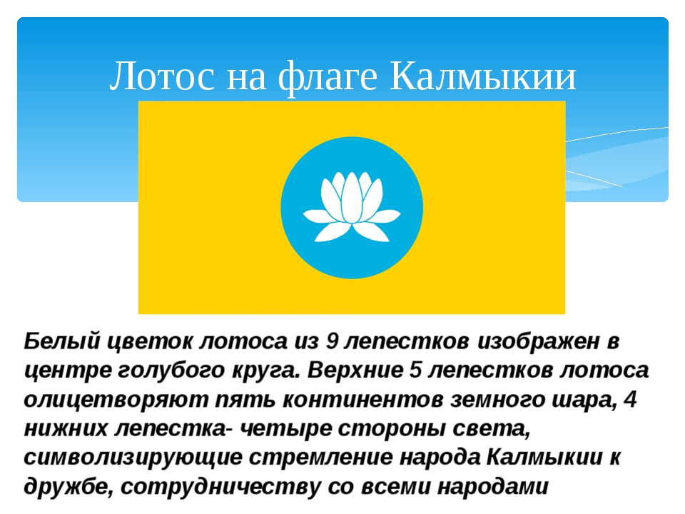 Лотос на флаге Калмыкии