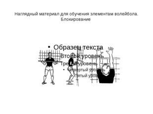 Наглядный материал для обучения элементам волейбола. Блокирование