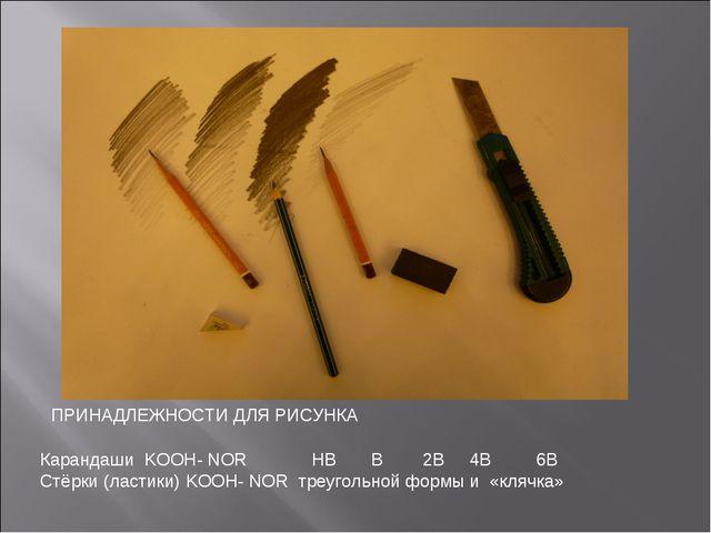 Карандаши KOOH- NOR HB B 2B 4B 6B Стёрки (ластики) KOOH- NOR треугольной форм...
