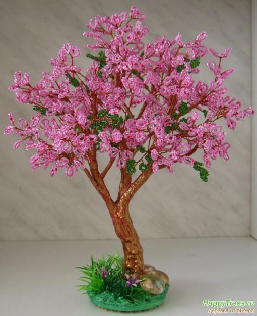 Бисероплетение схемы цветы сакура - Master class