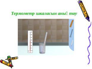 Термометр шкаласын анықтау