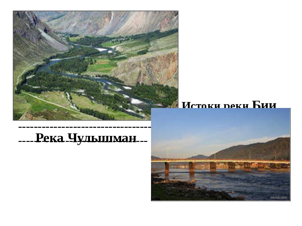 Истоки реки Бии ------------------------------------------------------------...