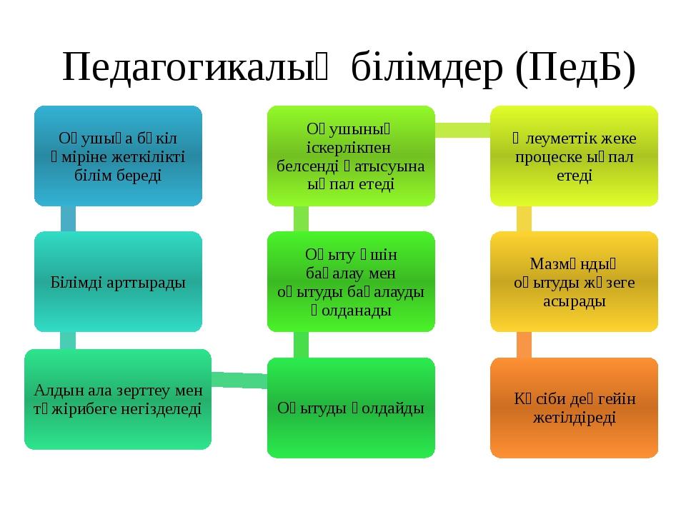 Педагогикалық білімдер (ПедБ)