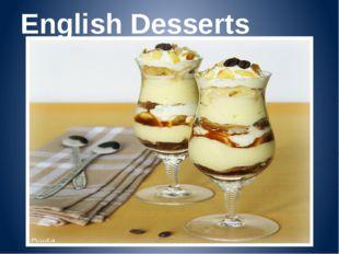 English Desserts