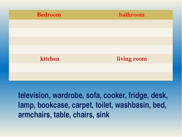 television, wardrobe, sofa, cooker, fridge, desk, lamp, bookcase, carpet, toi...