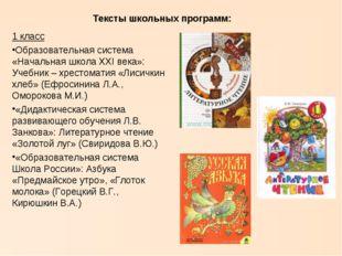 1 класс Образовательная система «Начальная школа XXI века»: Учебник – хрестом
