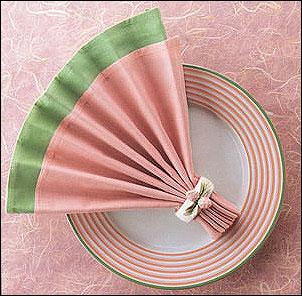 салфетки сложенные веером