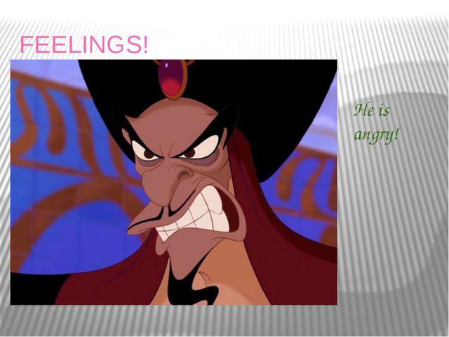 FEELINGS! He is angry!