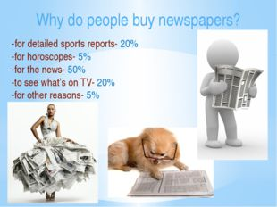 -for detailed sports reports- 20% -for horoscopes- 5% -for the news- 50% -to