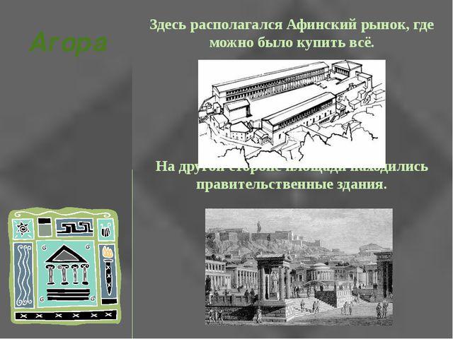 Здесь располагался Афинский рынок, где можно было купить всё. На другой сторо...