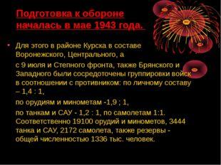 Для этого в районе Курска в составе Воронежского, Центрального, а с 9 июля и