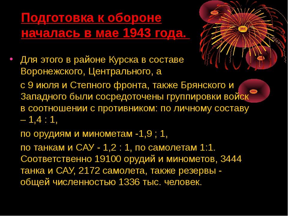 Для этого в районе Курска в составе Воронежского, Центрального, а с 9 июля и...