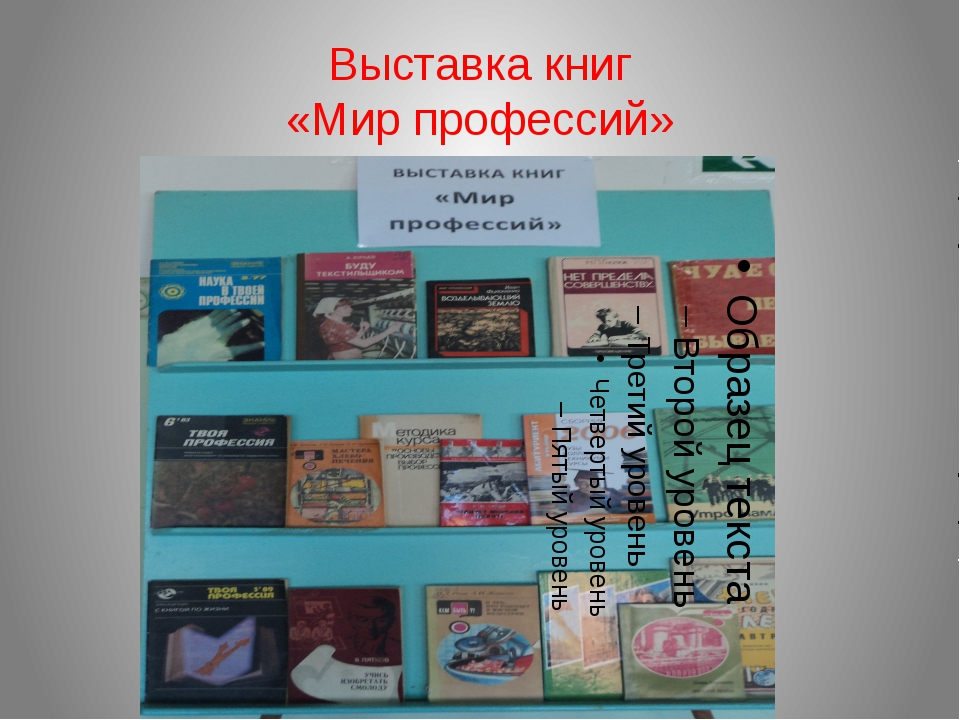 Выставка книг «Мир профессий»