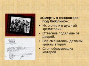 «Смерть в концлагере под Люблино»: Их сгоняли в душный крематорий Оттеснив п