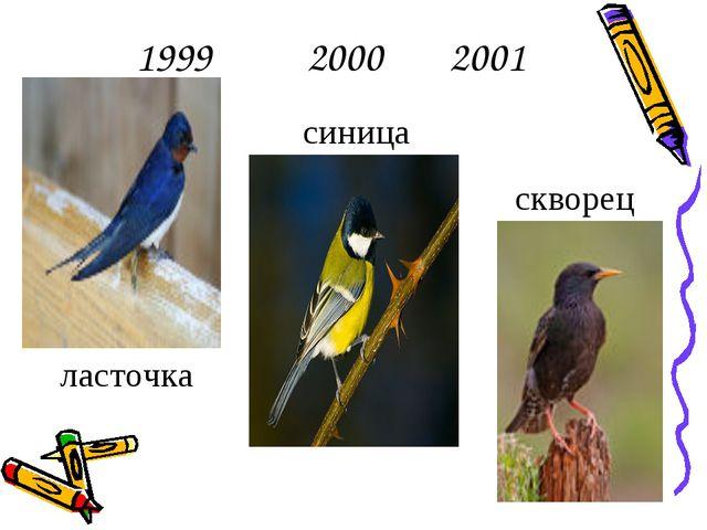 1999 2000 2001 ласточка синица скворец