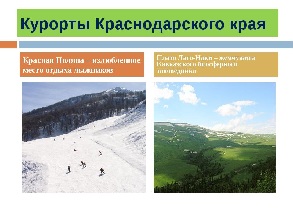 Курорты Краснодарского края Красная Поляна – излюбленное место отдыха лыжнико...