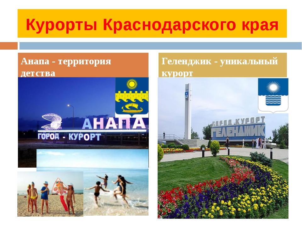Курорты Краснодарского края Анапа - территория детства Геленджик - уникальный...