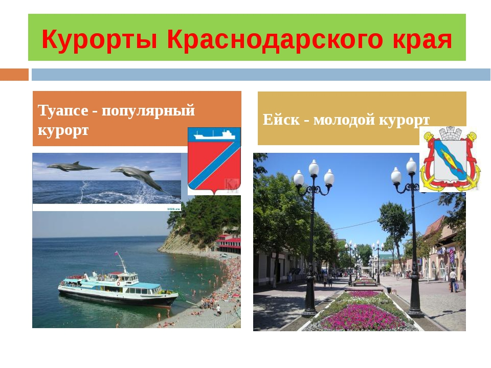 Курорты Краснодарского края Туапсе - популярный курорт Ейск - молодой курорт