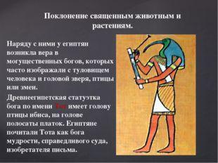 Наряду с ними у египтян возникла вера в могущественных богов, которых часто и